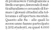 L'Eco Di Bergamo - AEGEE Summer University 2012