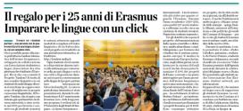 L'Eco di Bergamo - Tandem Bergamo & 25° Erasmus
