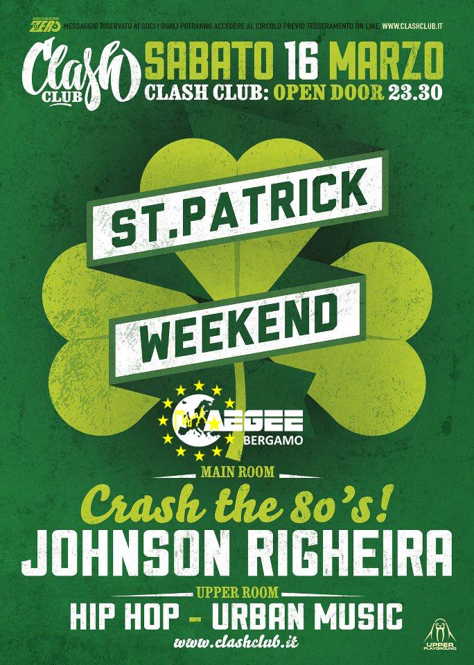 saint patrick weekend clash club aegee bergamo. Black Bedroom Furniture Sets. Home Design Ideas