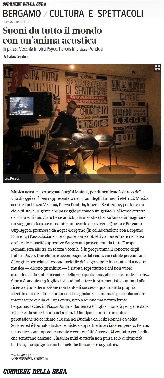 2014-07-02 - Corriere Della Sera - Bergamo Unplugged