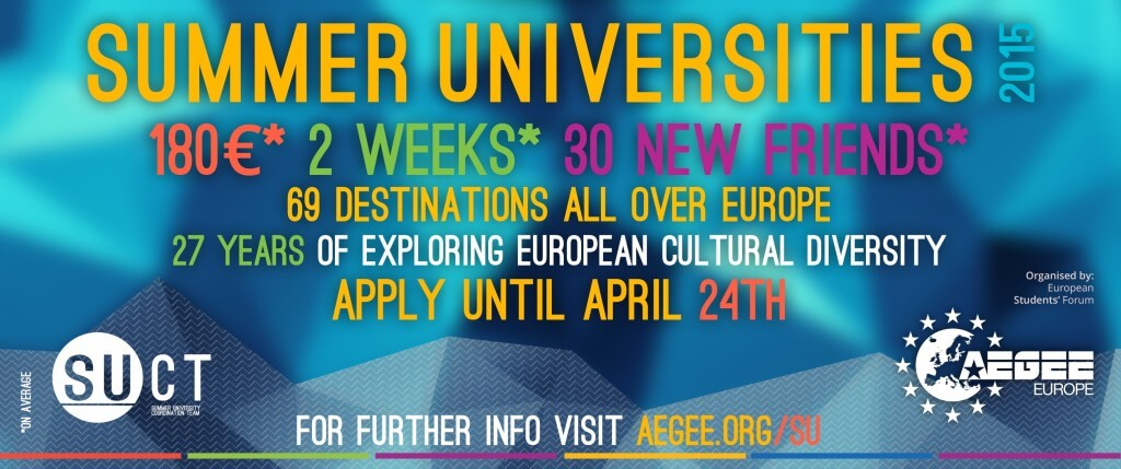 Summer University 2015 Poster