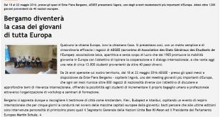 2015-07-03 - Bergamonews - Bergamo diventerà la casa dei giovani di tutta Europa