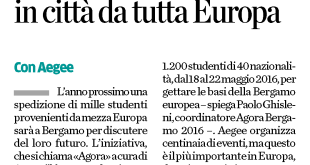 2015-07-04 - L'Eco di Bergamo - Nel 2016, 1200 giovani in città da tutta Europa