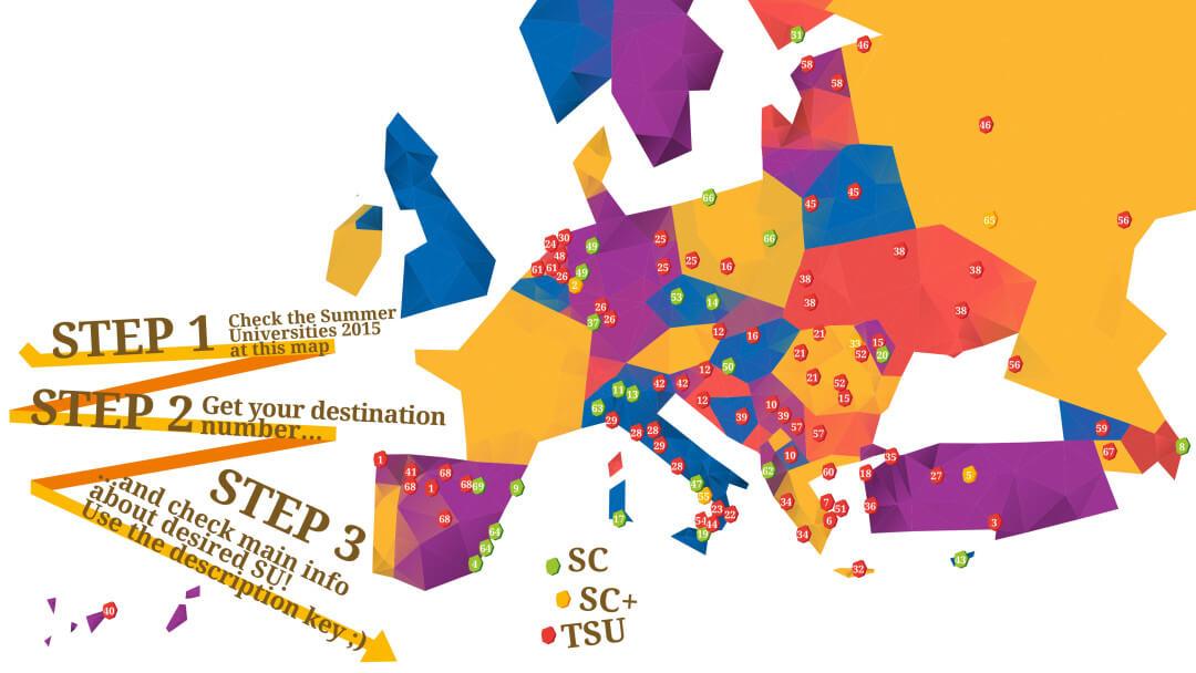 Summer Universities Map 2015