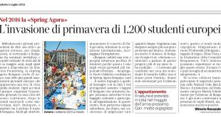 2015-07-04 - Il Corriere della Sera - L'invasione di primavera di 1200 studenti europei