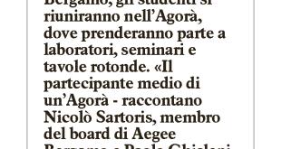 2015-07-04 - Il Giorno - Bergamo capitale della gioventù universitaria
