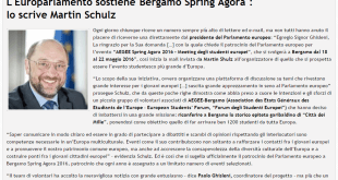 2015-11-11 - L'Europarlamento e Martin Schulz supportano Bergamo Agora 2016